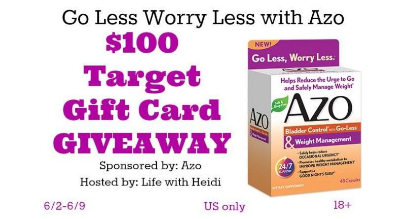 Go Less Worry Less with Azo $100 Target GC Giveaway