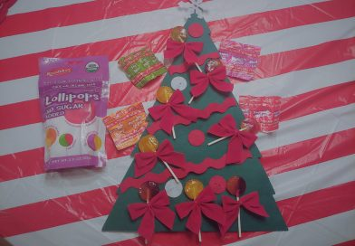 Felt Christmas Tree with Lollipop Decorations