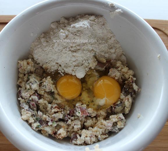 egg, flour, loaded mashed2