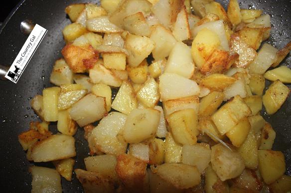 fried potatos for soup