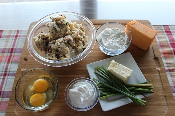 ingredients loaded potato cakes