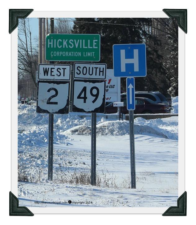 hicksville ohio sign