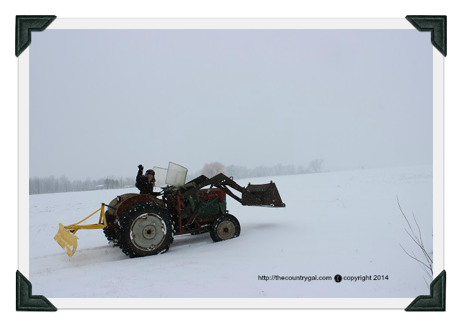 snow plowing on the farm 2014