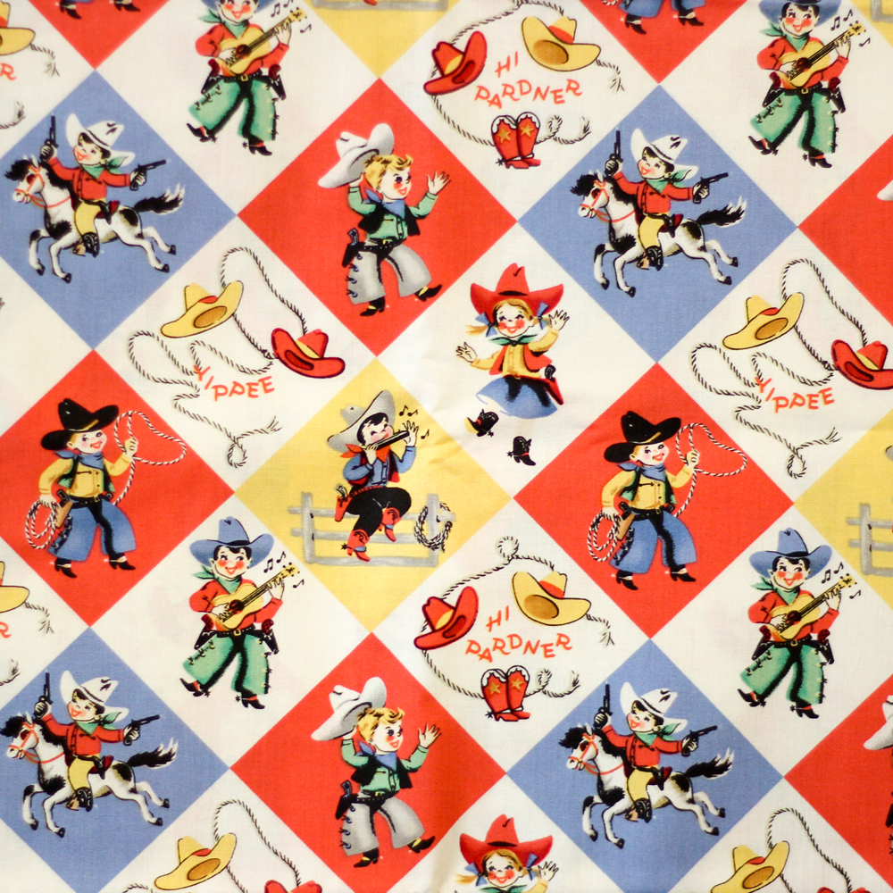The Rodeo fabric from the waistband